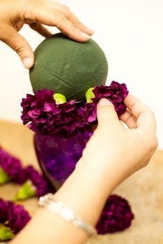 Pomander Flower Ball Tutorial