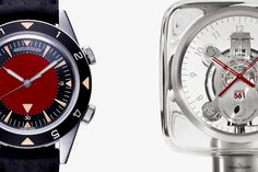 auction, marc newson, red, watch, jaegerlecoultr memovox