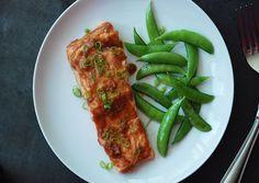 Roast Salmon with Miso Glaze