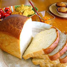 Amish White Bread- This recipe makes 2 loaves of a sweet, dense white bread that is amazing! You can cut back on the sugar for a classic farmhouse white.I let my Kitchen Aide do the kneading for me so it was a breeze to make.The kids ate half a loaf right out of the oven :)