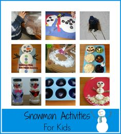 Snowman Activities- Science, Math, Craft, Snacks and More