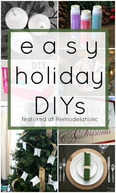Easy Holiday DIYs vi