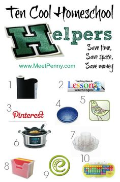 10 homeschool helpers - some you may have never thought about before!