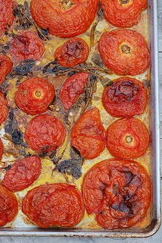 Rustic Roasted Tomatoes With Garlic & Herbs