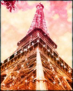 Pink Eiffel Tower -Retro Paris