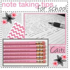 note taking tips for school; ♡