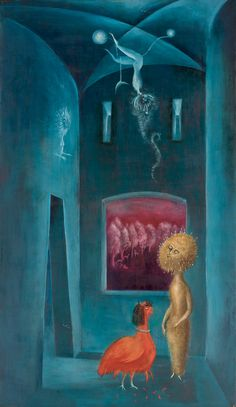 LEONORA CARRINGTON....STEP SISTER'S HEN (OR MARIGOLD, MARIGOLD, TELL ME YOUR ANSWERS DO), 1952