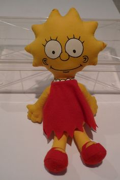 The Simpsons Lisa Simpson Toy Rag Doll 1990s $13.00, via Etsy. i used to have this!
