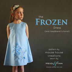 "HeidiandFinn modern wears for kids: ""Let it Go"" frozen inspired dress - a mouse house creation pattern"