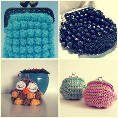 15 Favorite Crochet Coin Purses to Make Saving Pennies Fun./ La pagina incluye: monederos tejidos, con cuentas y hasta uno hecho con los anillos abridores de lata.
