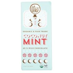 Theo Organic & Fair Trade Coconut & Mint Milk Chocolate