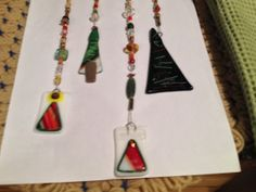 Fused glass Christmas chime by fusedglassbyjemima on Etsy, $20.00