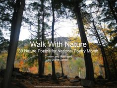 walk-with-nature by Diane Cordell via Slideshare