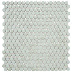 SomerTile 11.25x12-in Posh Penny Round Mint Porcelain Mosaic Tile (Pack of 10) | Overstock.com