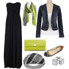 #51 by megan-carney-patterson on Polyvore maxi dresses, outfit, lime green