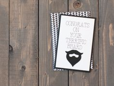 Terrific Beard Card. Make It Now in Cricut Design Space