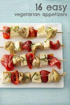 16 quick and easy vegetarian appetizer recipes (great for summer get-togethers!)