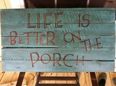 gotta have porch time. It's good for the soul :)