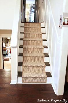DIY- How to add a stairway runner ! (Great photo step by step tutorial)