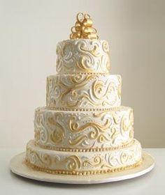 gold/yellow cake