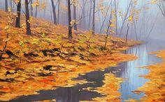 #art #fall #foliage #lake #pond