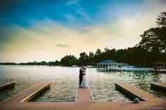 wedding photo lake norman dock charlotte, nc