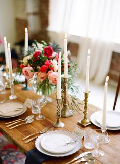 Gorgeous tablescape for a holiday party.