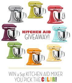 Kitchen Aid Mixer giveaway at highheelsandgrills.com!