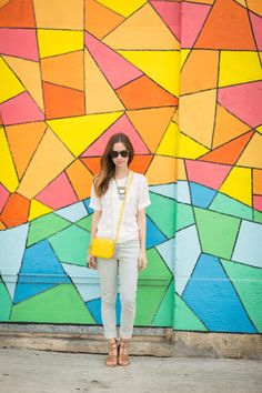 blogger paradis, real cloth, james jean, casual saturday, outfit inspir, bright colors