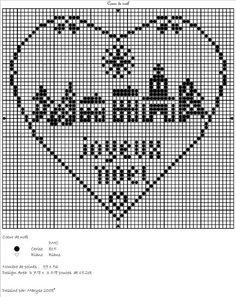 cœur de noël, grille gratuite de Maryse à télécharger en Pdf