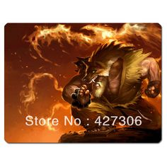 League of Legends LOL Black Belt Udyr Mouse Pad 350*275*5mm Free Shipping