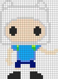Adventure Time Finn POP Figure perler bead pattern