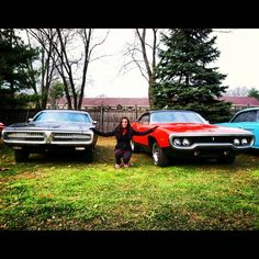 Miss Mopar with The 1972 Dodge Charger and the 1971 Plymouth RoadRunner