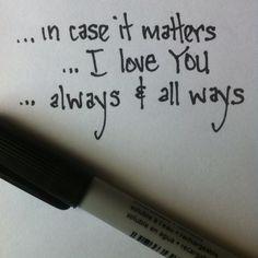 ...I miss you...