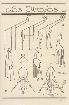 How to draw giraffes in 3 angles!