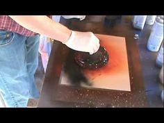 Spray Paint Art Tutorial: planet rings