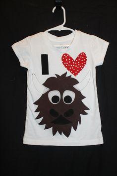 I heart Rumble Shirt- OKC Thunder. $17.00, via Etsy.