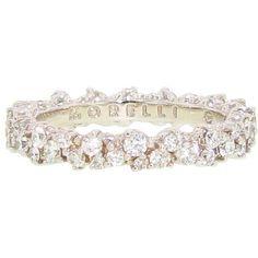 anniversary rings, diamonds, morelli confetti, paul morelli, dream wedding, diamond bands, white gold, 5 year anniversary, confetti ring