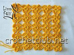 lace-y motif with diagrams