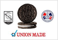 We here at Labor 411 love Oreos and the hardworking union members who make them! Thank you members of International Association of Machinists & Aerospace Workers (IAMAW) (Lodges 49, 48, 63, 1202/District 8, and W24) and the BCTGM International Union (Locals 300, 719, 364, 492, 358, and 350) for making such a delicious snack!