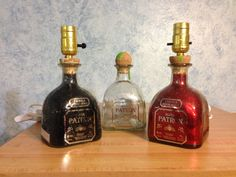 Patron Tequila Liquor Bottle Lamp   Great by CovertMeiborations, $30.00