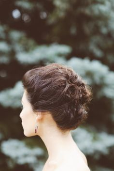 #Hairstyle | On SMP:  http://www.StyleMePretty.com/canada-weddings/ontario/toronto/2014/01/24/lavender-wedding-inspiration-at-weirs-lane-lavender-farm/ Purple Tree Photography
