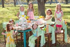 Love the idea for a park birthday.  Shabby Chic Birthday Party — Celebration outside.