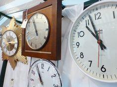Cool clocks at the MK Handmade & Vintage Fair, Middleton Hall, Milton Keynes, November 2013