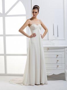 2012 Fall Sweetheart Chiffon bridal gown with Empire waist  Read More:     http://www.weddingspurple.com/index.php?r=2012-fall-sweetheart-chiffon-bridal-gown-with-empire-waist.html