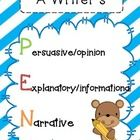 A MUST HAVE for 2nd grade teachers!  In this PEN packet, you will find tools to teach PERSUASIVE, EXPLANATORY and NARRATIVE writing.  It includes:...