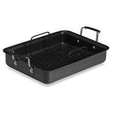 And one day; we'll be able to host our own thanksgiving.   not any day soon  Simply Calphalon Nonstick Roaster - Bed Bath & Beyond