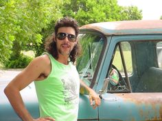 Just a mullet and his pickup...total harmony...