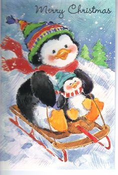This little penguin card is totally adorable. I love the image on this cardmaking craft. This picture is sure to make loved ones smile when they receive this handmade card for Christmas!