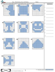 Area & Perimeter (from an awesome Common Core worksheet site)